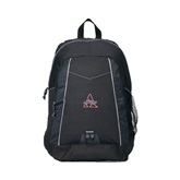 Impulse Black Backpack-Alcorn Official Logo