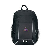 Atlas Black Computer Backpack-Alcorn Official Logo