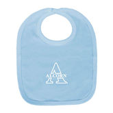 Alcorn Light Blue Baby Bib-Alcorn Official Logo