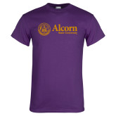 Purple T Shirt-Alcorn State University Seal