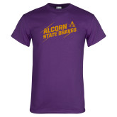 Purple T Shirt-Alcorn State Braves