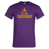 Purple T Shirt-Fear the Brave