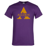 Purple T Shirt-Distressed Logo
