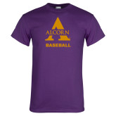 Purple T Shirt-Alcorn Baseball
