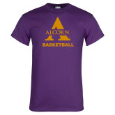 Purple T Shirt-Alcorn Basketball