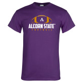 Purple T Shirt-Alcorn State Football