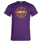 Purple T Shirt-Alcorn State Basketball