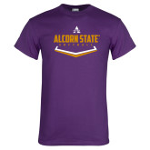Purple T Shirt-Alcorn State Softball