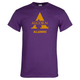 Purple T Shirt-Alcorn Alumni