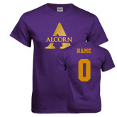 Purple T Shirt-Alcorn A, Custom Tee w/ Name and #