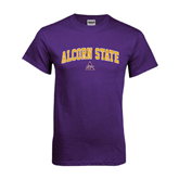 Purple T Shirt-Arched Alcorn State