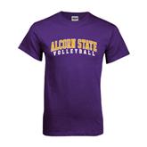 Purple T Shirt-Volleyball