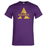 Purple T Shirt-Alcorn A