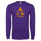Purple Long Sleeve T Shirt-Alcorn Alumni