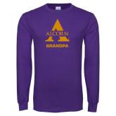 Purple Long Sleeve T Shirt-Alcorn Grandpa