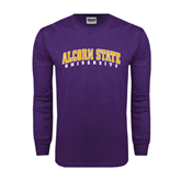 Purple Long Sleeve T Shirt-Arched Alcorn State University