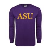 Purple Long Sleeve T Shirt-ASU