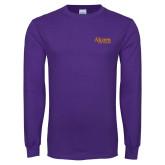 Purple Long Sleeve T Shirt-Alcorn State University