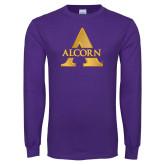 Purple Long Sleeve T Shirt-Alcorn A