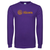 Purple Long Sleeve T Shirt-Alcorn