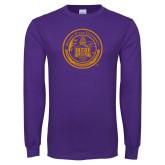 Purple Long Sleeve T Shirt-Alcorn Seal