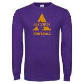 Purple Long Sleeve T Shirt-Alcorn Football