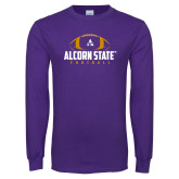 Purple Long Sleeve T Shirt-Alcorn State Football