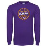 Purple Long Sleeve T Shirt-Alcorn State Basketball