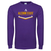 Purple Long Sleeve T Shirt-Alcorn State Softball