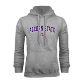 Alcorn Grey Fleece Hoodie-Arched Alcorn State