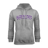 Alcorn Grey Fleece Hoodie-Arched Alcorn State University