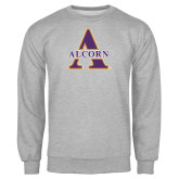 Grey Fleece Crew-Alcorn Official Logo