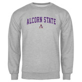 Grey Fleece Crew-Arched Alcorn State