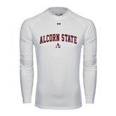 Under Armour White Long Sleeve Tech Tee-Arched Alcorn State