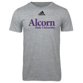 Adidas Sport Grey Logo T Shirt-Alcorn State University