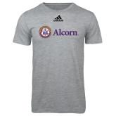 Adidas Sport Grey Logo T Shirt-Alcorn