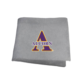 Grey Sweatshirt Blanket-Alcorn Official Logo
