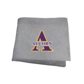 Grey Sweatshirt Blanket-Alcorn Official Logo