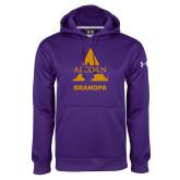 Under Armour Purple Performance Sweats Team Hoodie-Alcorn Grandpa