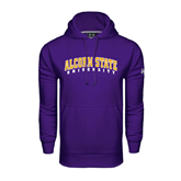 Under Armour Purple Performance Sweats Team Hoodie-Arched Alcorn State University