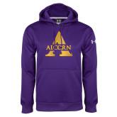 Under Armour Purple Performance Sweats Team Hoodie-Alcorn A