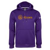 Under Armour Purple Performance Sweats Team Hoodie-Alcorn