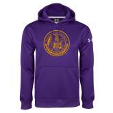 Under Armour Purple Performance Sweats Team Hoodie-Alcorn Seal