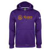 Under Armour Purple Performance Sweats Team Hoodie-Alcorn State University Seal
