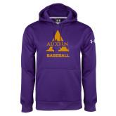 Under Armour Purple Performance Sweats Team Hoodie-Alcorn Baseball