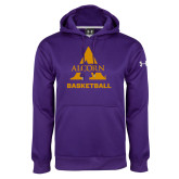 Under Armour Purple Performance Sweats Team Hoodie-Alcorn Basketball