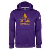 Under Armour Purple Performance Sweats Team Hoodie-Alcorn Softball