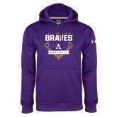 Under Armour Purple Performance Sweats Team Hoodie-Alcorn State Baseball