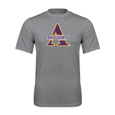 Alcorn Performance Grey Concrete Tee-Alcorn Official Logo