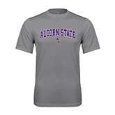 Alcorn Performance Grey Concrete Tee-Arched Alcorn State